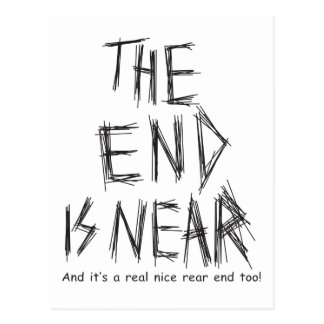 the end is near postcard