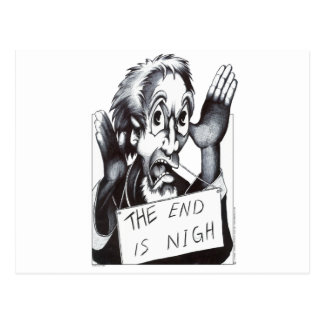 The End is Nigh Postcard