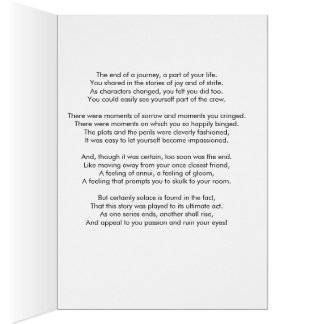 The End of a Show Greeting Card