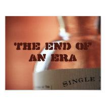 The end of an era card