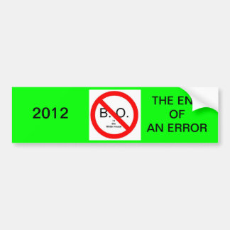 The End of an Error Car Bumper Sticker