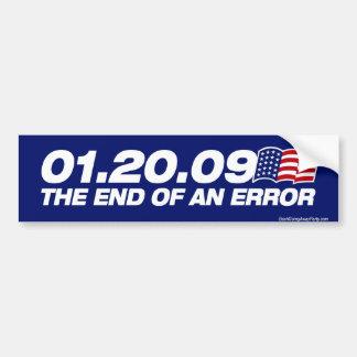 The End of an Error Bumper Sticker Car Bumper Sticker