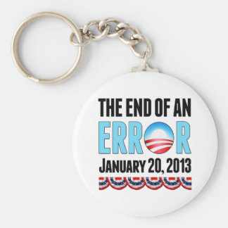 The End of An Error January 20, 2013 Obama Basic Round Button Keychain