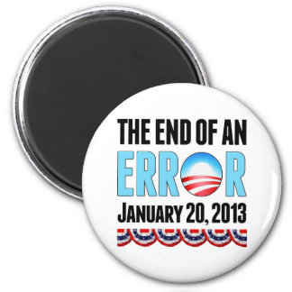 The End of An Error January 20 2013 Obama Fridge Magnet
