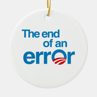 The end of an error christmas ornament