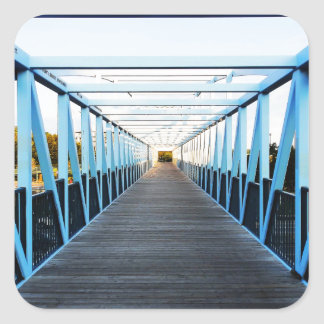 The End Of Bridge Square Stickers