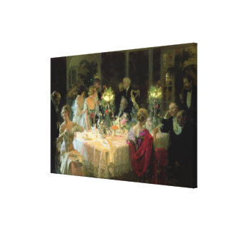 The End of Dinner, 1913 Canvas Print