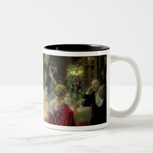 The End of Dinner, 1913 Two-Tone Coffee Mug