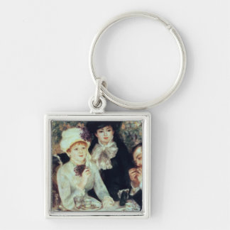 The End of Luncheon, 1879 Silver-Colored Square Keychain