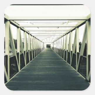 The End Of The Bridge Square Sticker