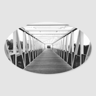 The End Of The Bridge Oval Sticker