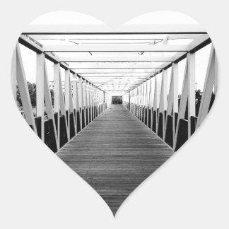 The End Of The Bridge Heart Sticker