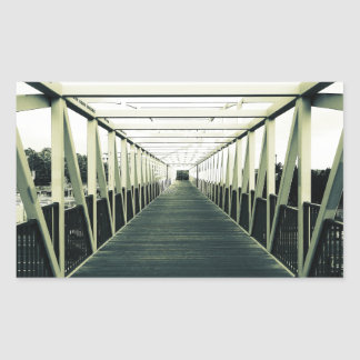 The End Of The Bridge Rectangular Stickers