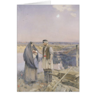 The End of the Day, 1888 Card