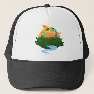 The end of the dinosaurs trucker hat