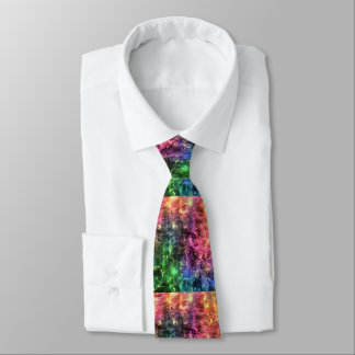 The End Of The Rainbow Abstract Tie