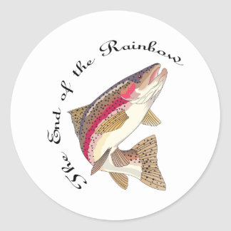 THE END OF THE RAINBOW CLASSIC ROUND STICKER