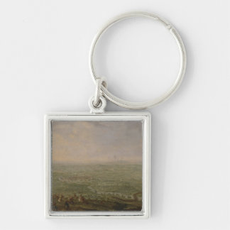 The End of the Siege of Olomouc Silver-Colored Square Keychain