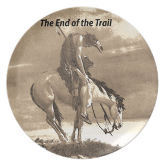 The End of the Trail Dinner Plate