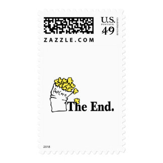 The End (Popcorn) Postage Stamp