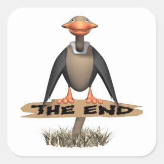 The End Square Sticker