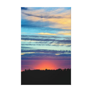 The end to a perfect day canvas print