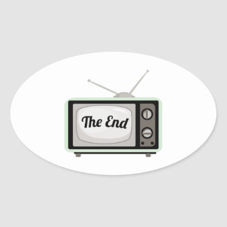 The End TV Oval Sticker