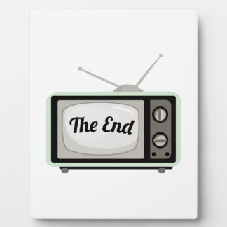 The End TV Photo Plaques