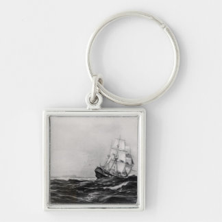 The Endeavour at Sea, 1900, engraved by Lowy Keychain