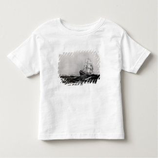 The Endeavour at Sea, 1900, engraved by Lowy Toddler T-shirt