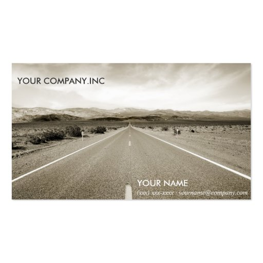The endless desert road business cards