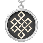 The Endless Knot Beige Necklace