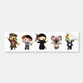 The Enemies of the Ninja Bumper Sticker