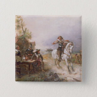 The Enemy Approaches (oil on canvas) Button