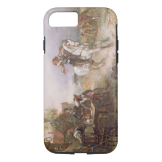 The Enemy Approaches (oil on canvas) iPhone 8/7 Case