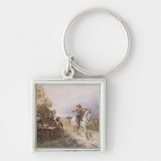 The Enemy Approaches (oil on canvas) Key Chains
