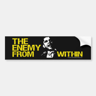 """""""The Enemy From Within"""" Bumper Sticker"""