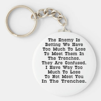 The Enemy Is Betting We Have Too Much To Lose Keychain
