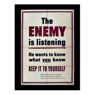 The Enemy Is Listening Postcard