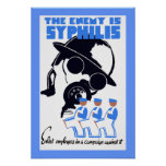The Enemy Is Syphilis Poster