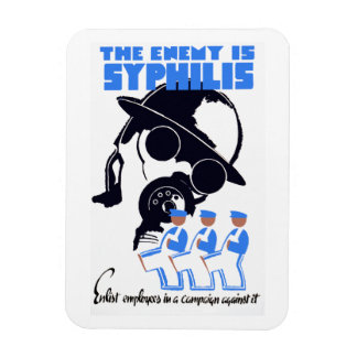 The Enemy Is Syphilis Rectangular Photo Magnet