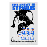 The Enemy Is Syphilis - WPA Poster
