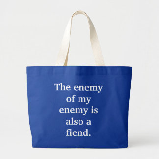 the-enemy-of-my-enemy-is-also-a-fiend01 bolsas lienzo
