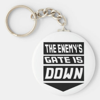 The Enemy's Gate Is Down Basic Round Button Keychain