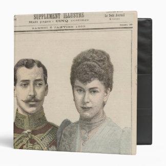 The Engagement of Albert Victor  Duke of Vinyl Binder