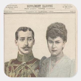 The Engagement of Albert Victor  Duke of Square Sticker