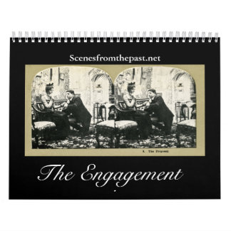 The Engagement Story - Vintage  2011-12 (18 month) Wall Calendars