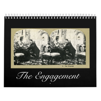 The Engagement Story - Vintage Stereoview Series Calendar
