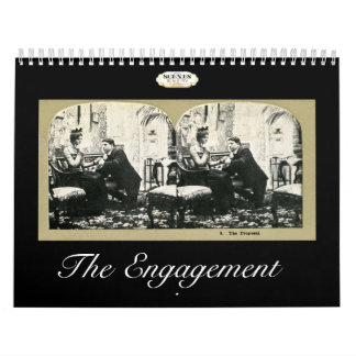 The Engagement Story Vintage Stereoviews Wall Calendars