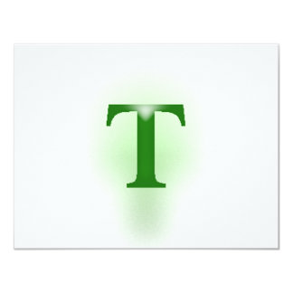 "The English American Letter ""T"" Card"
